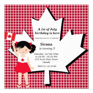 Canadian birthday girl custom invites