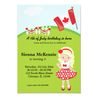 Canadian birthday party card