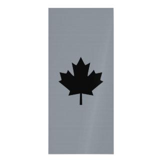 Canadian Black Maple Leaf Decor Magnetic Invitations