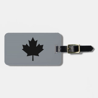 Canadian Black Maple Leaf Graphic Luggage Tag