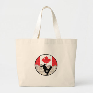 Canadian Boarders Large Tote Bag