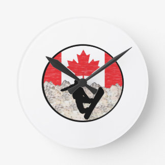 Canadian Boarders Round Clock