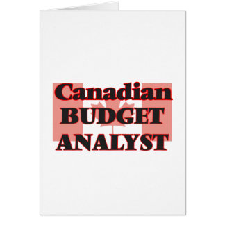 Canadian Budget Analyst Greeting Card
