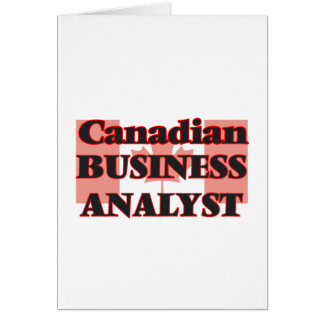 Canadian Business Analyst Greeting Card