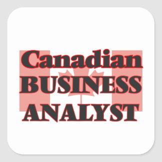 Canadian Business Analyst Square Sticker
