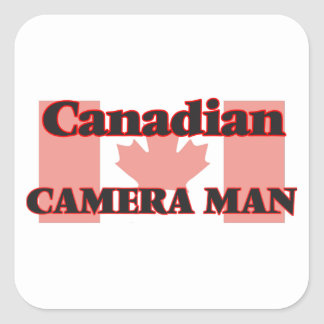 Canadian Camera Man Square Sticker