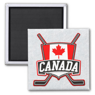Canadian Canada Hockey Flag Magnet