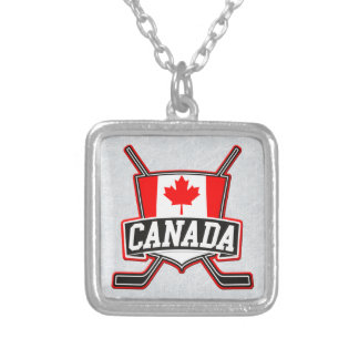 Canadian Canada Hockey Flag Pendant