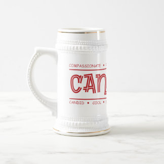 Canadian Characteristics! Wrap Design Beer Stein