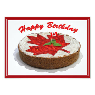 Canadian Cherry Maple Leaf Cake Card