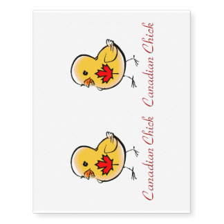 Canadian Chick Temporary Tattoos
