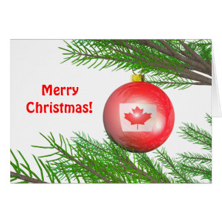 Canadian Christmas Tree Decoration Card