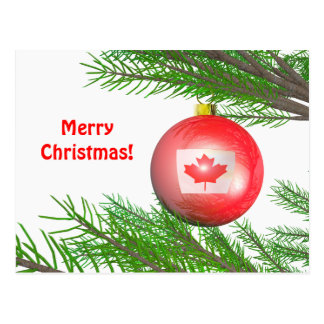 Canadian Christmas Tree Decoration Postcard
