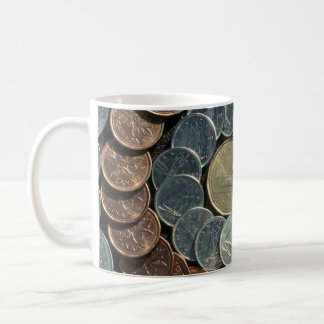 Canadian coins coffee mug