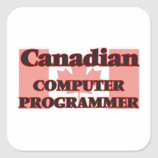 Canadian Computer Programmer Square Sticker