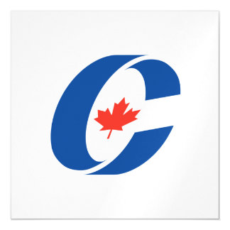 Canadian Conservative Party Magnetic Invitations