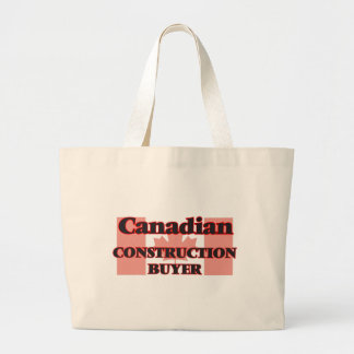 Canadian Construction Buyer Jumbo Tote Bag