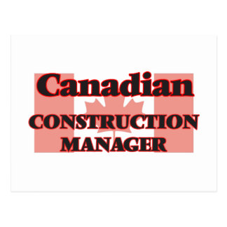 Canadian Construction Manager Postcard