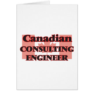 Canadian Consulting Engineer Greeting Card