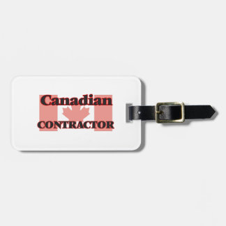 Canadian Contractor Travel Bag Tag