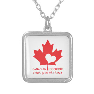 Canadian Cooking Comes from the Heart Silver Plated Necklace
