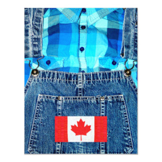Canadian Country - Canada Day or Country Party 11 Cm X 14 Cm Invitation Card
