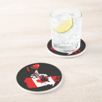 Canadian country flag beverage coaster