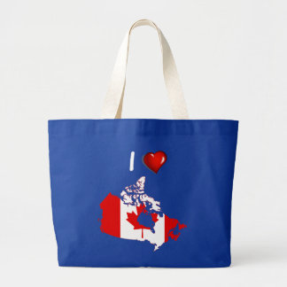 Canadian country flag large tote bag