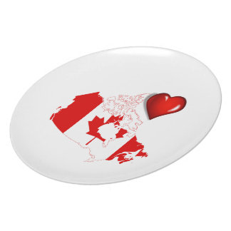 Canadian country flag plate