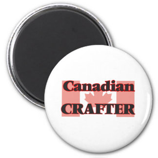 Canadian Crafter 6 Cm Round Magnet