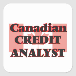 Canadian Credit Analyst Square Sticker