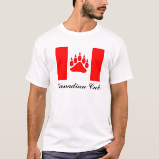 Canadian Cub Canadian Flag With Bear Paw T-Shirt