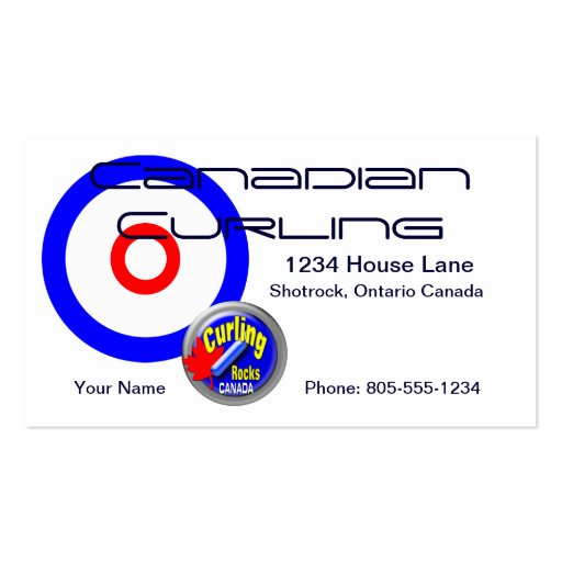 Canadian Curling Business Card Templates
