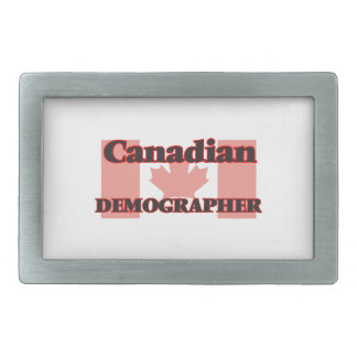 Canadian Demographer Belt Buckles