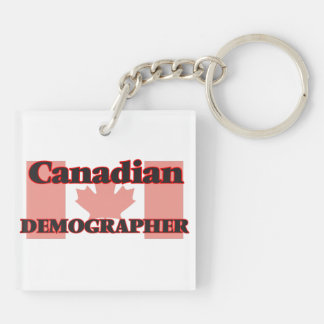 Canadian Demographer Double-Sided Square Acrylic Key Ring