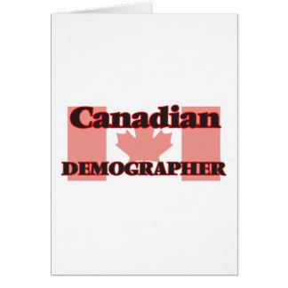Canadian Demographer Greeting Card