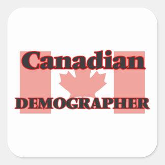 Canadian Demographer Square Sticker
