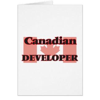 Canadian Developer Greeting Card