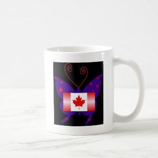 Canadian Diva Butterfly Coffee Mug