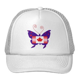 Canadian Diva Butterfly Mesh Hats