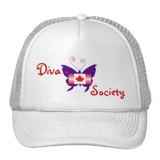 Canadian Diva Butterfly Society Mesh Hats