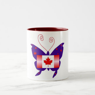 Canadian Diva Butterfly Two-Tone Coffee Mug