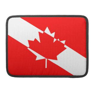 Canadian Diver Flag /Maple Leaf (TM) Sleeve For MacBook Pro
