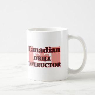 Canadian Drill Instructor Basic White Mug