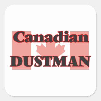 Canadian Dustman Square Sticker