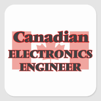Canadian Electronics Engineer Square Sticker