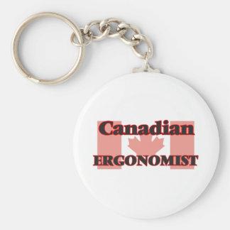 Canadian Ergonomist Basic Round Button Key Ring