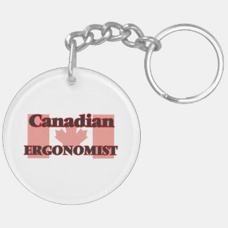 Canadian Ergonomist Double-Sided Round Acrylic Key Ring