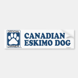 Canadian Eskimo Dog Blue Bumper Sticker