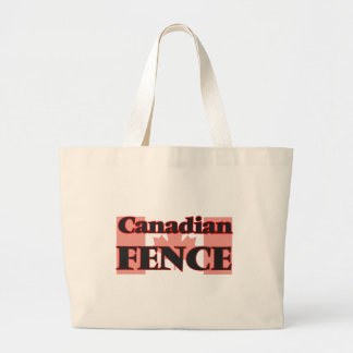 Canadian Fence Jumbo Tote Bag